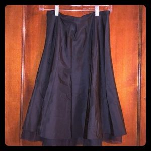 Black skirt with tulle underlay